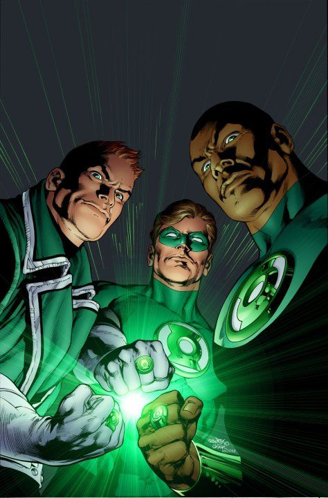 GREEN LANTERNS - GUY GARDNER, HAL JORDAN AND JOHN SREWART