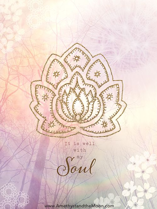 It Is Well with My Soul art print ~ Amethyst and the Moon