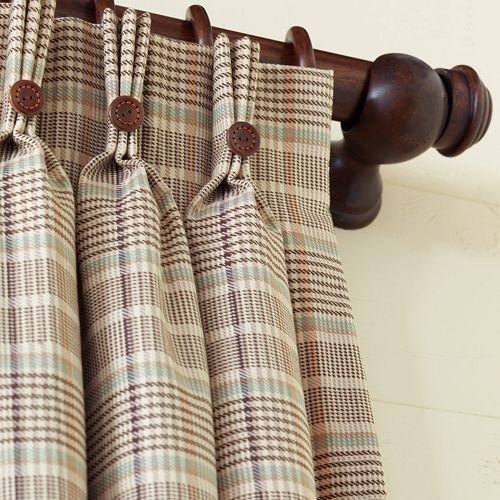 ♥♥ ... Window Dressing ... ♥♥  Hermes Plaid Curtain Panel