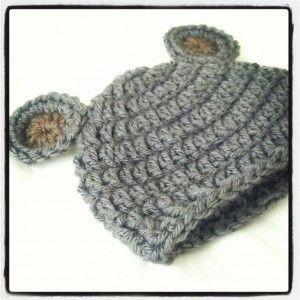 Crochet Baby Hat Pattern: Newborn Bear