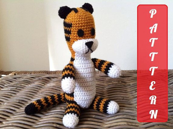 Hobbes the stuffed animal. Have the pattern and plan on crocheting it before 1st birthday. Possible prop. #kimberlingray