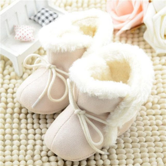 Product Description Soft Fleece Girl Newborn Winter Boots Toddler Baby Kid Prewalker Cozy Crib Shoes Style:Baby Cute Warm Fleece Boots Color:Wine Red/Rose Red/Beige Material:Cotton+Fleece Occasion:Cas