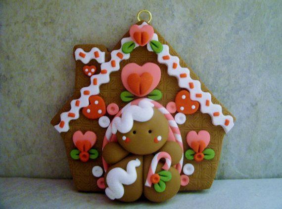 Hombre de jengibre Gingerbread House por countrycupboardclay                                                                                                                                                                                 Más