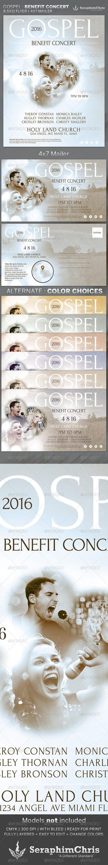 Gospel Benefit Concert Church Flyer Template Flyer