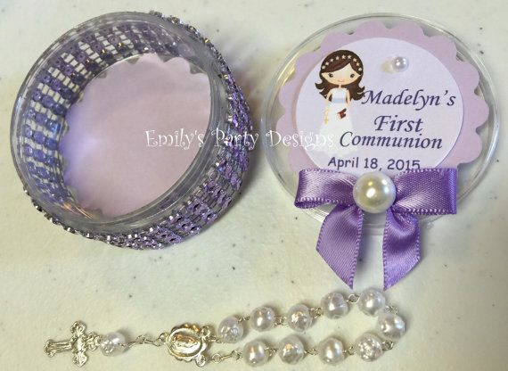 Lavander First Communion Favor First Communion Price is per