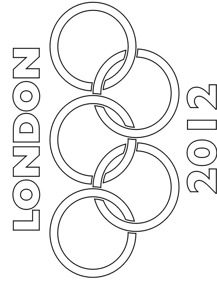 Fun for kids -- London 2012 Olympic rings coloring page