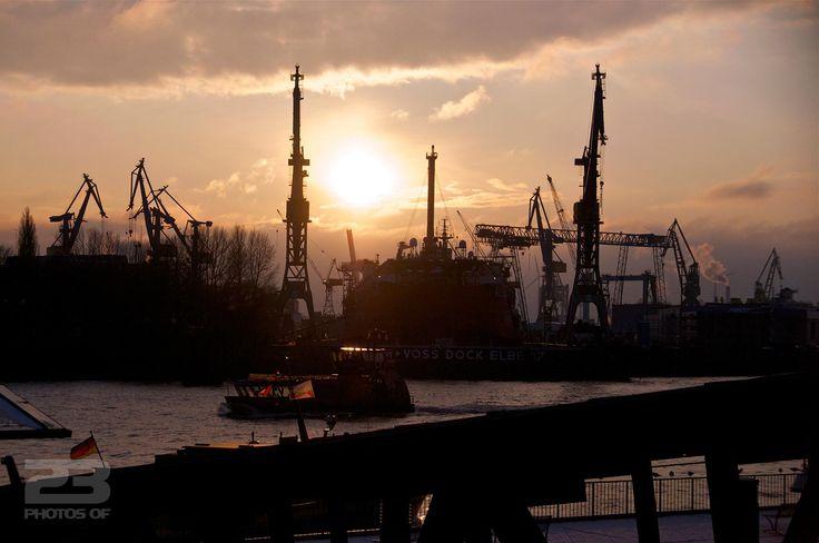 Hamburg Port at Dusk photo | 23 Photos Of Hamburg