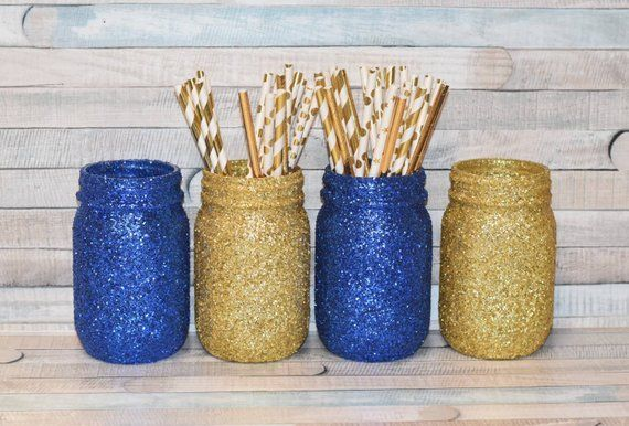 Royal Prince Baby Shower Royal Blue And Gold Decorations Glitter