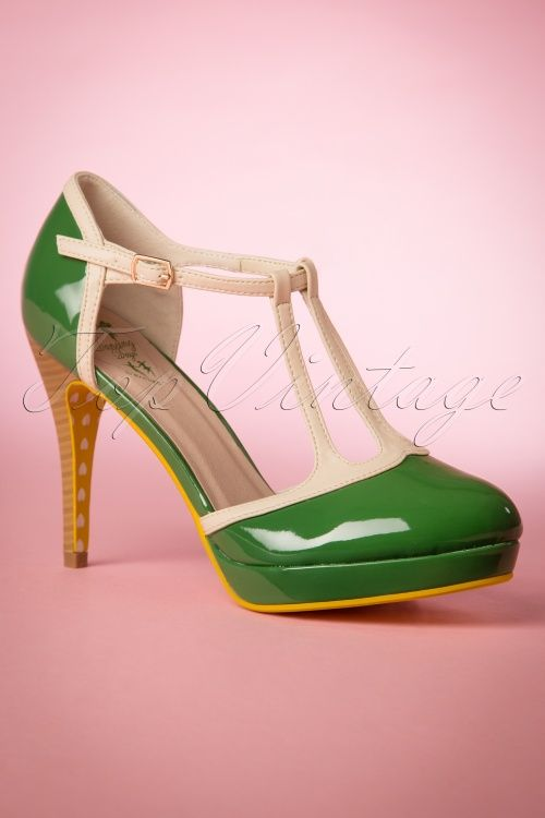 Banned Grass Green Betty T Strap Pump 401 40 17745 20160309 0028W
