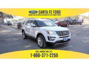 2017 White Platinum Metallic Tri-Coat Ford Explorer Limited 366491