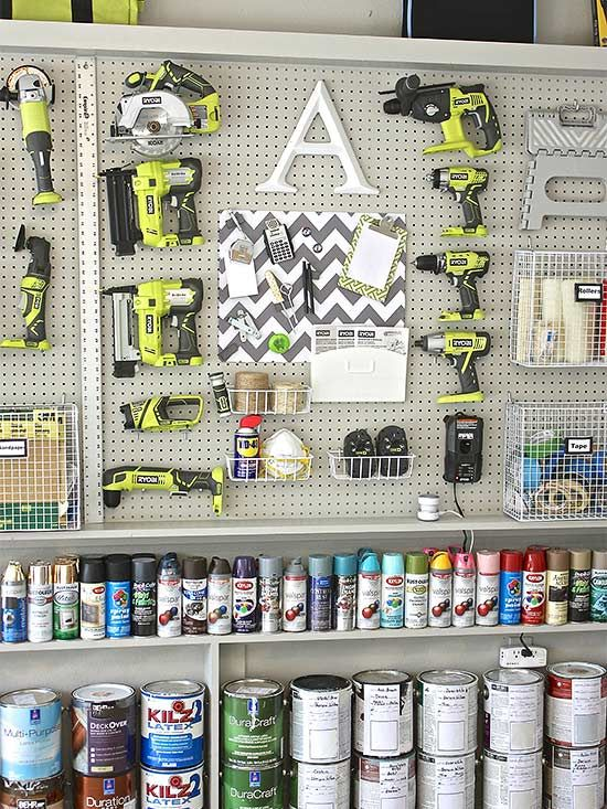 Tips and tricks for creating extra storage in the garage.