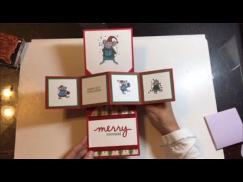 Merry Mice Pop Up & Twist Card - A Simplified Way of Making These Cards - YouTube