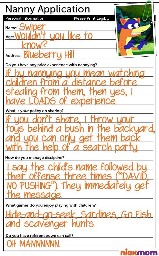 babysitter application