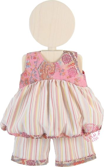 Kleid mit Ballon-Rock und 7/8-Hose nähen, passend für Bay Born oderandere 43cm Puppen