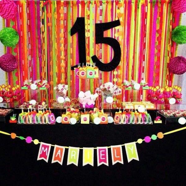 festa neon 15 anos - Pesquisa Google