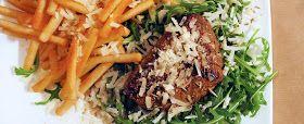 Biefstuk met limoendressing en raspatat