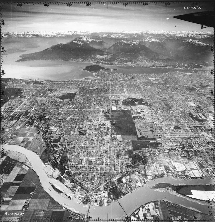 Old Aerial Photo of Vancouver AV-19