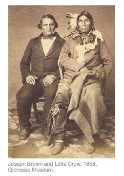 little crow Chief little crow, leader of the dakota war of 1862, suffered the inglorious fate of being shot to death while picking raspberries.