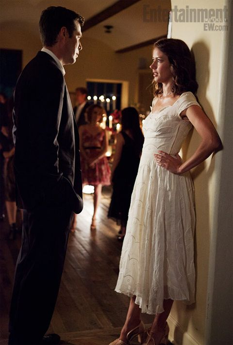 Alexis Denisof (Benedict) and Amy Acker (Beatrice) in Joss Whedon's upcoming adaptation of Much Ado About Nothing.