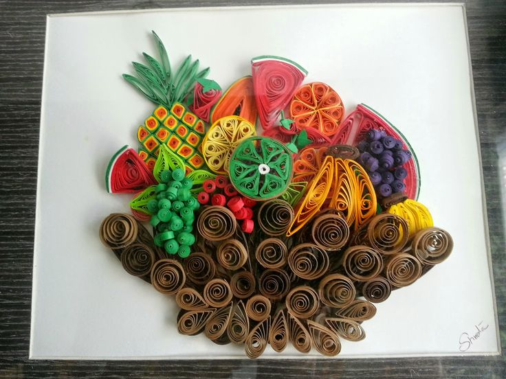 Fruit Basket Art Ideas : Images about quilling food and drink on