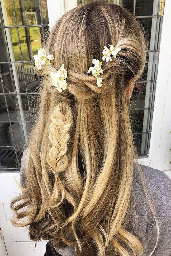 Boho Braid Half Up Half Down Hairstyle For Long Hair That You Ll Love Long Hair Styles Short Hair Styles Easy Prom Hairstyles For Long Hair