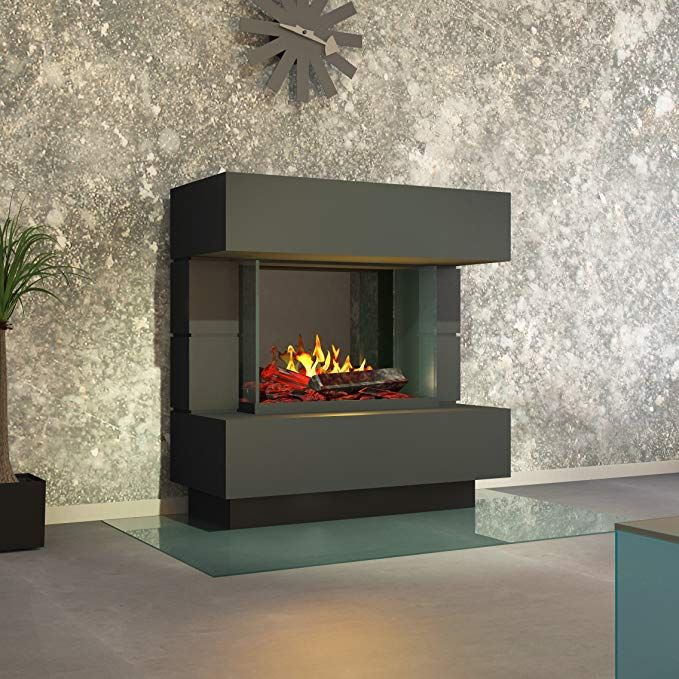 Muenkel Design London Electric Fireplace Opti Myst 140 Cm Pure White Warm With Heating Decorative Wood Omc 1000 Co Uk Kitchen