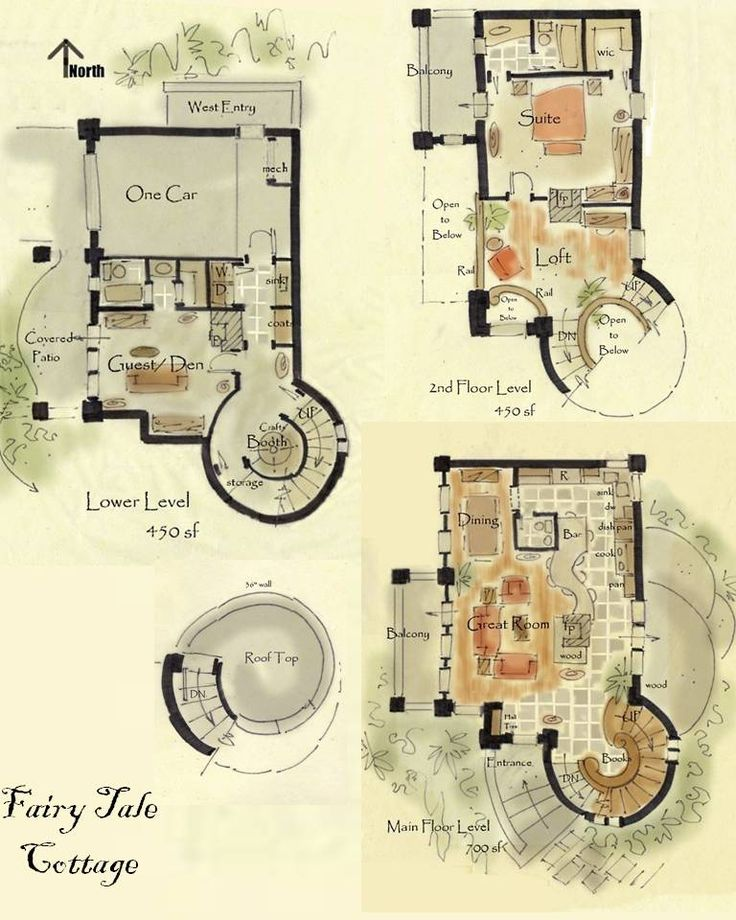 Cottage floor plans - love this!