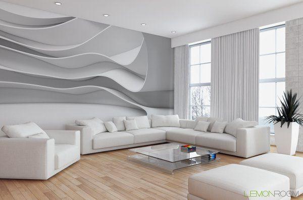 Minimalistycznie #Fototapeta 3D z aranżacji ➡ http://lemonroom.pl/fototapeta-35-Fototapety-D-wf123-Fale-D-Max-Krasnov-a.html   #Fotoapety #interiordesign #walldecor #murals #wallmurals