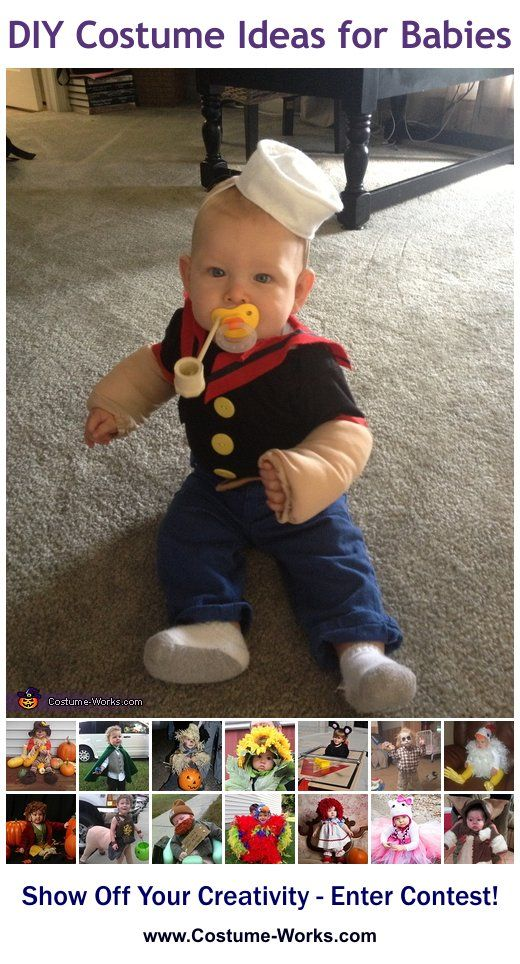 DIY Costumes for Babies - tons of homemade costume ideas! Perfect since I'm known as olive oil