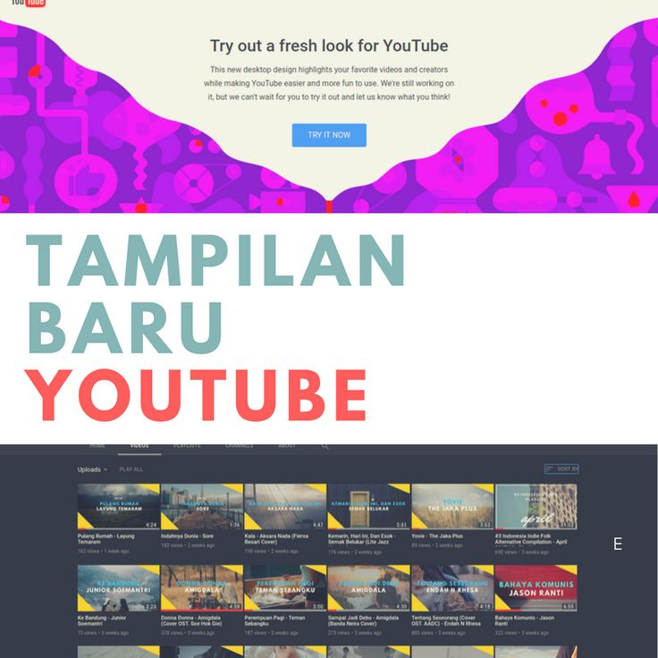 Tampilan baru YouTube  #newyoutube #youtubedarkmode #youtube #youtubematerialdesign #materialdesign