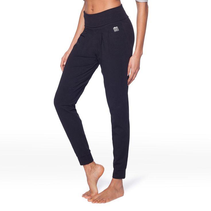 Pantalon souple noir T.L - En coton bio, pour vos séances de gymnastique douce - 39,95 €