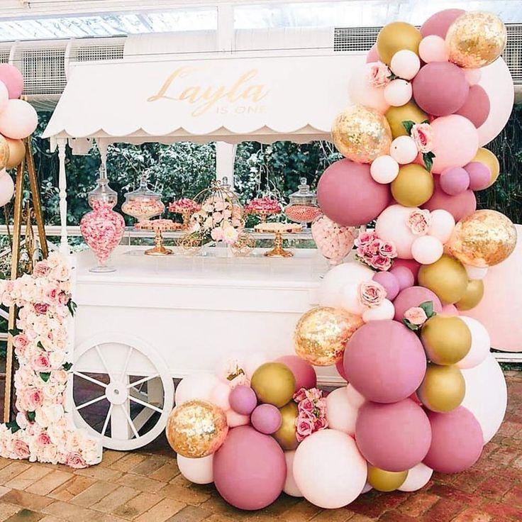 PartyWoo Pink and Gold Balloons 4 66 pcs Pink Balloons Metallic Gold Balloons