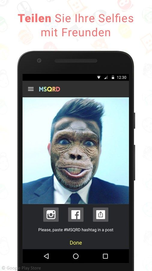 Tolle Video-Selfies mit der MSQRD App :-D