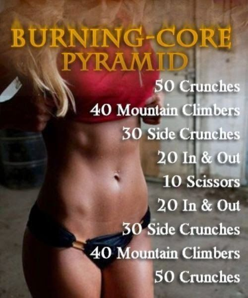 Burning Core Pyramid. Abs Baby!