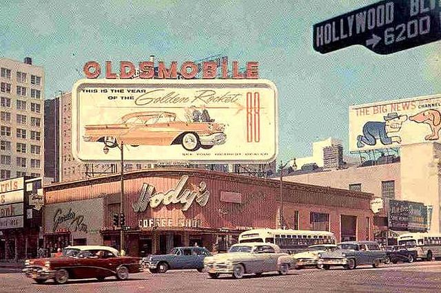 L.A. Hollywood and Vine 1950s