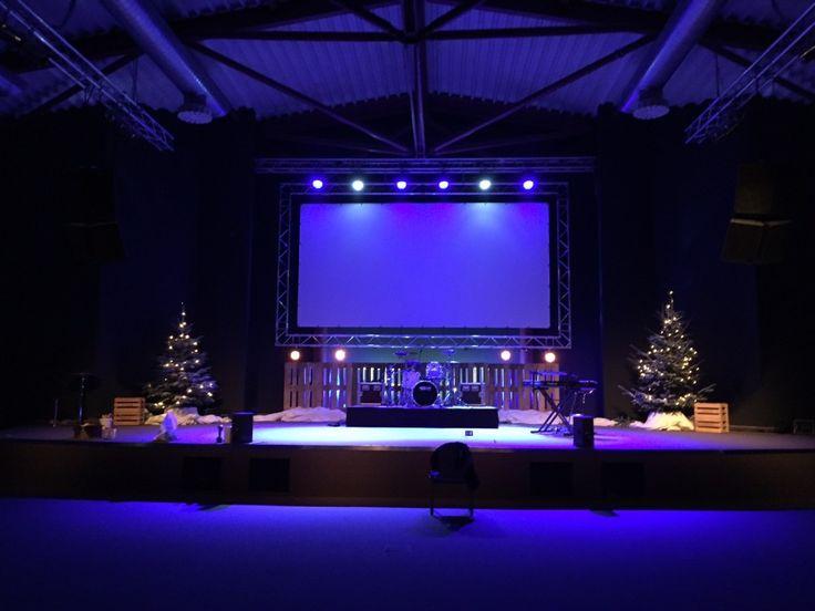 church lighting ideas. fence christmas from christus zentrum weinstadt in germany church stage design ideas lighting