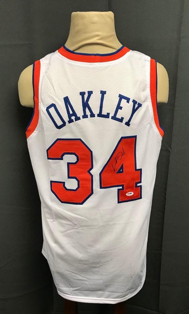 Charles Oakley  3 Signed NY Knicks Home Jersey Autographed Sz XL PSA DNA COA 35a67aea8