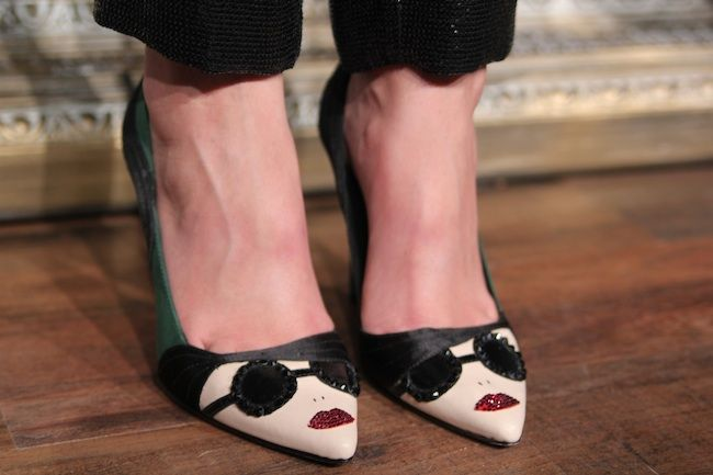 Fun shoes at the alice + olivia presentation. Not pictures: Cake Pop