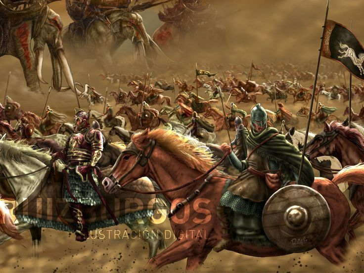 Lord Of The Rings Rohan Vs Haradrim