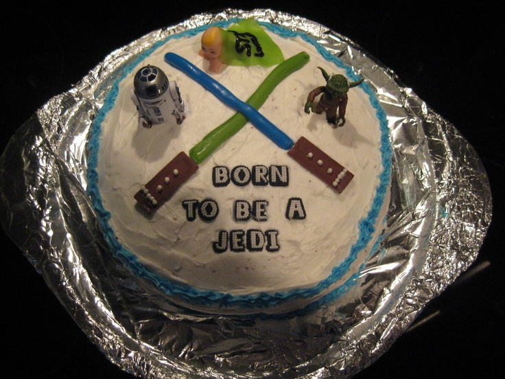 Star Wars Baby Shower Cake :)