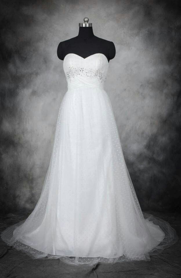 17 best images about wedding dresses on pinterest satin for Dotted swiss wedding dress