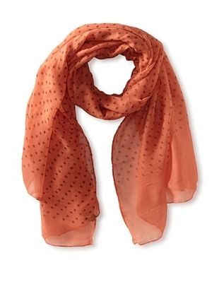 58% OFF Jules Smith Women's Polka Dot Scarf, Coral