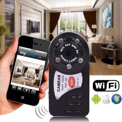 12,16 EUR  Wifi-Mini-Dv-Ip-Wireless-Spy-Cam-Camara-de-Vision-Nocturna-Seguridad-Para-Android-Ios-Cb