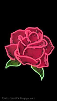 Dale un estilo más romántico a tu chat de Whatsapp con está bonita rosa roja en neón. En Fondoparawhat.blogspot.com encontrado más ...