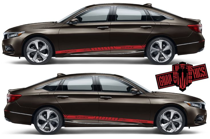 Sport Sticker Decal Side Door Stripes for Honda Accord (2 Peaces)