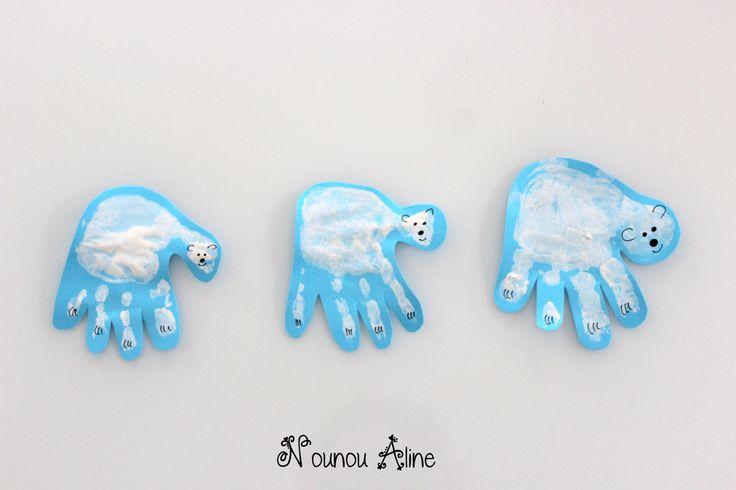 Ours polaire en main