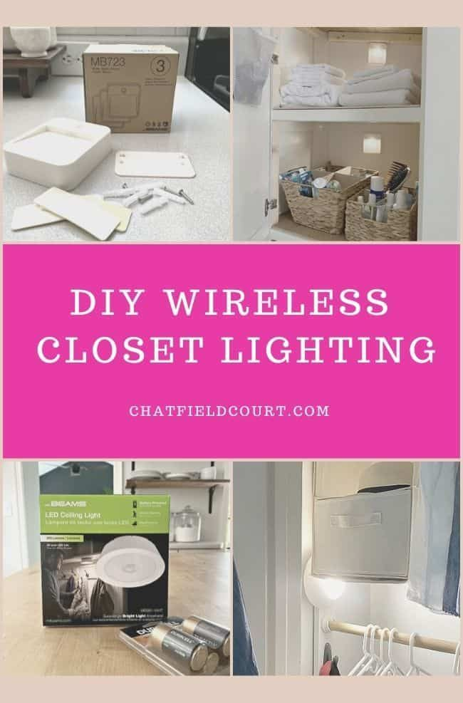 Closet Lighting Ideas Without Wiring In 2020 Closet Lighting Rv Diy Projects Wireless Wall Sconce