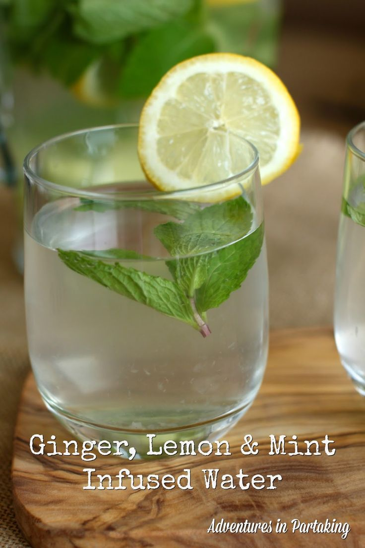 Ginger, Lemon & Mint Thirst Quencher {AIP, Paleo} - from Adventures in Partaking