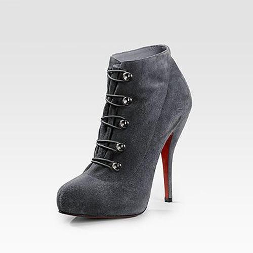 pick up d4a1c 8437b Artesur » christian louboutin round-toe lace booties
