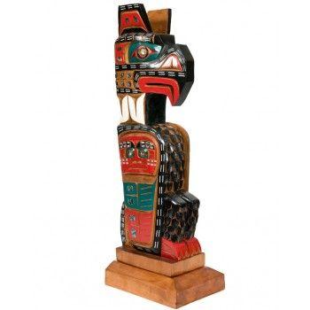 Thunderbird Totem Pole by Jimmy Joseph (Kwakwaka'wakw).